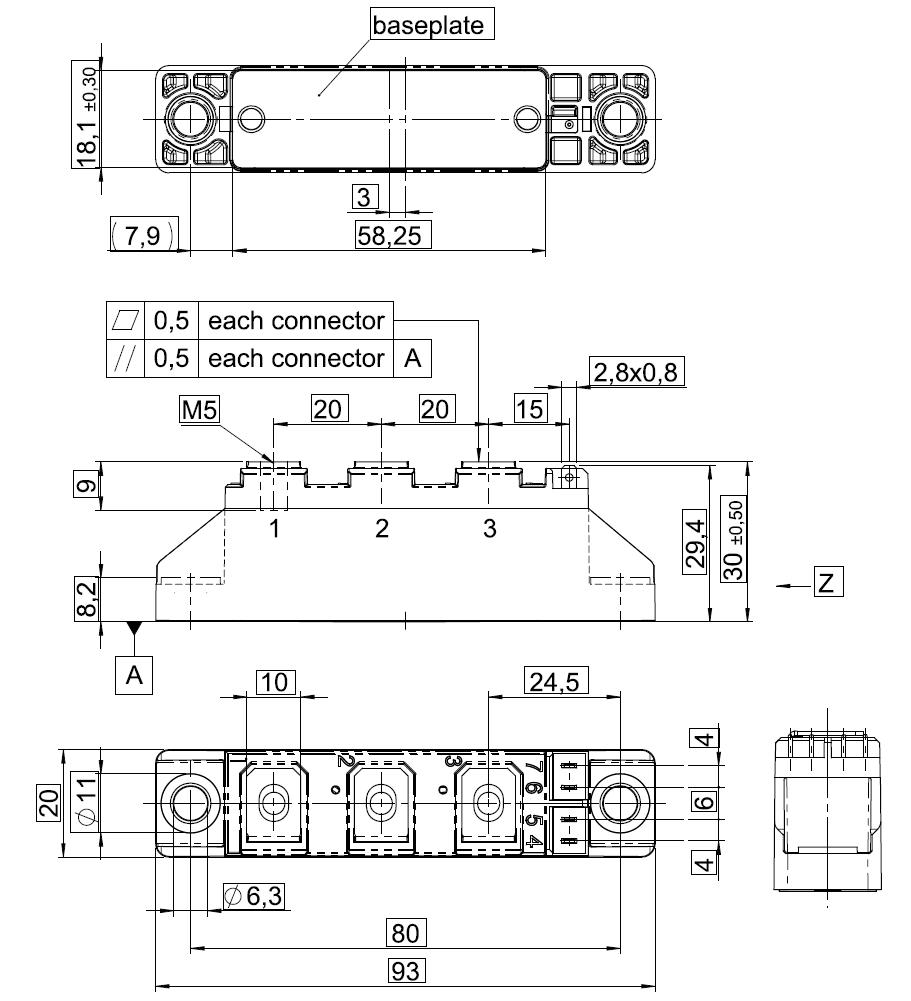 SKKD 101.16 - دیود دوبل سمیکرون SKKD101/16