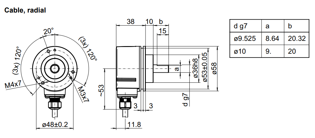 dra EIL580p sc10 - انکودر بامر شفت افزایشی EIL580P-SC