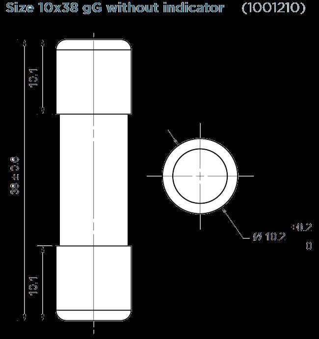 dra FR10GGV2png - فیوز فراز استوانه ای FR10GG50V16