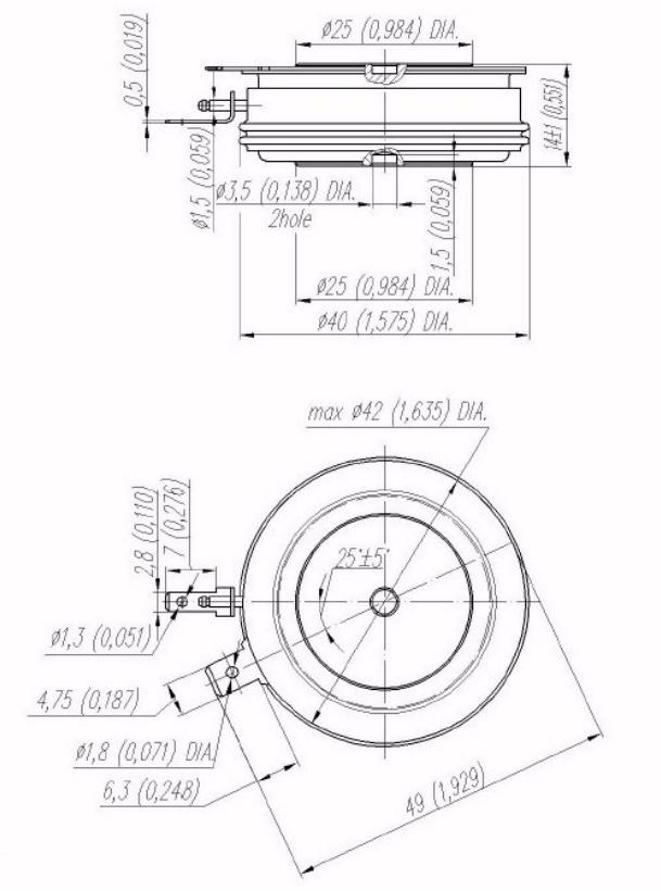 N095yn180 - تریستور وستکد دیسکی N0795YN180