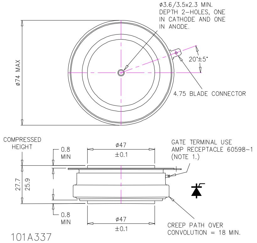 N1467Ns260 - تریستور وستکد دیسکی N1467NS260