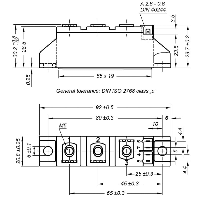 dra MCC95 - تریستور دوبل IXYS MCC95