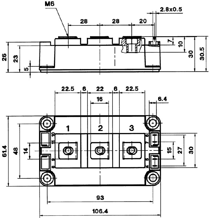 dra skm400 - آی جی بی تی دوبل سمیکرون SKM400GB12T4