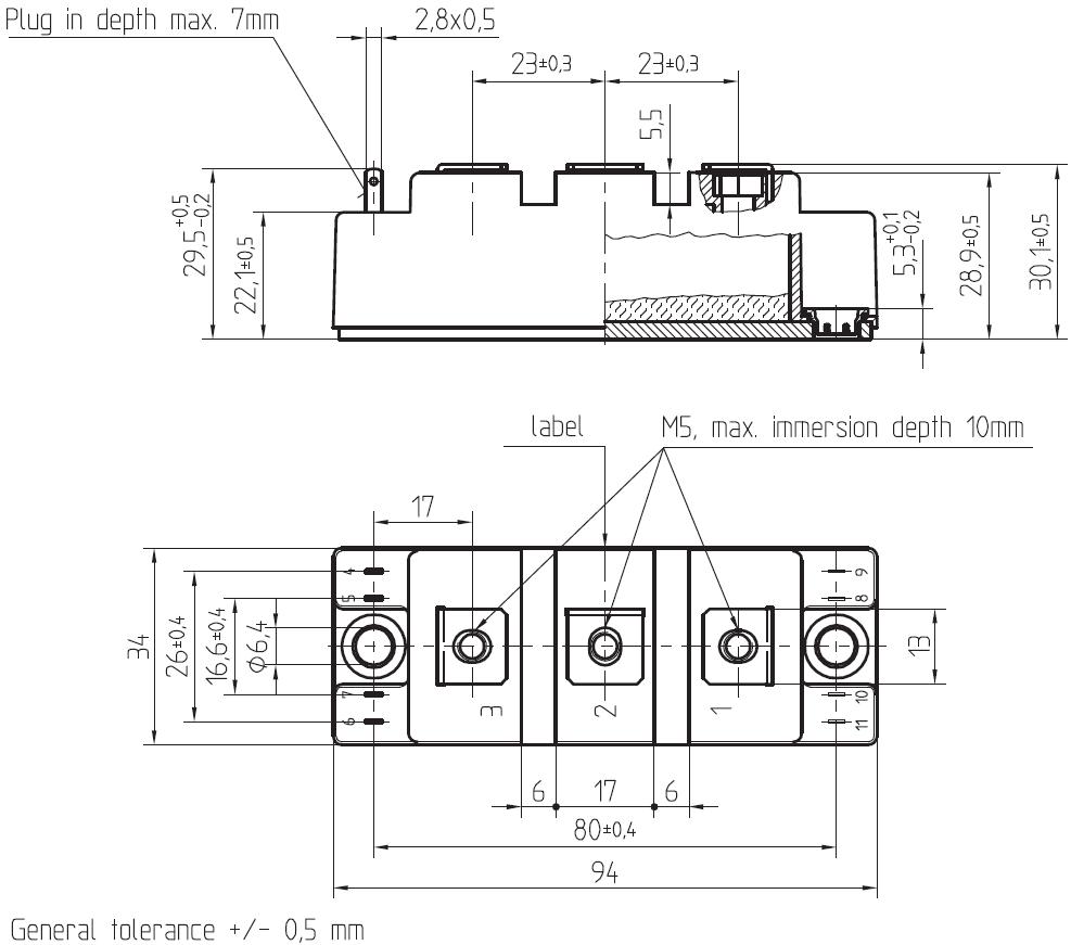dra skm75 - آی جی بی تی دوبل سمیکرون SKM75GB12T4